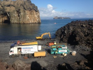 Hard rock reaming job in Iceland