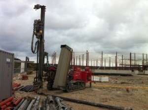 Shallow geothermal plant in Sweden 36 wells 220m deep