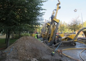 Shallow geothermal plant in Sweden 201 wells deep 240m