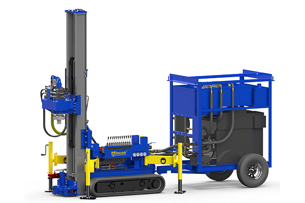 A compact portable drilling rig for micropiling and restricted access drilling